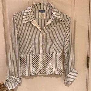 Gianfranco Ferre Jeans stripe blouse w/cuffs, S